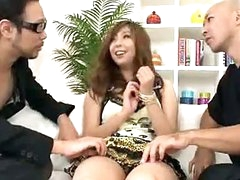 Hairy Asian snatch filled with jizz